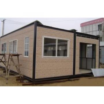 Sandwich Panel Galvanized Steel Prefab House With PVC Sliding Windows Doors