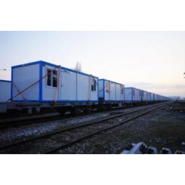 Yellow Frame Folding Container House With Steel Security Door , PVC Windows