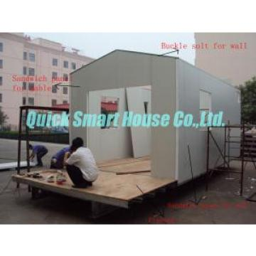 White Flat Pack Portable Modular Homes , Cargo Container House