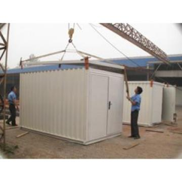 Movable Steel Storage Sheds With Galvanized Corrugated Prepainting Steel as Wall and Roof