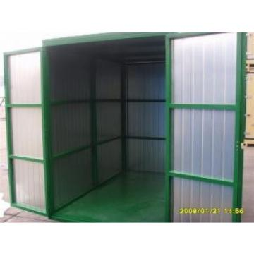 Folding Steel Storage Sheds Waterproof , Shipping Container House