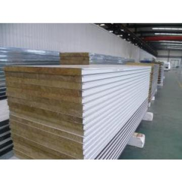 White Insulated Sandwich Panels , Fireproof Rock Wool Sandwich Panel