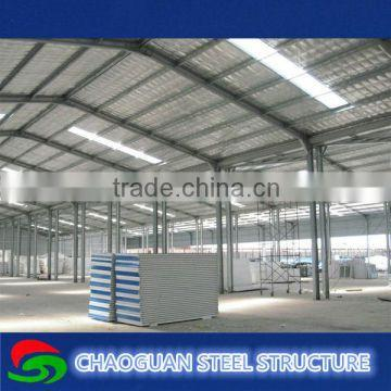 Light steel structure frame prefabricated modular warehouse building
