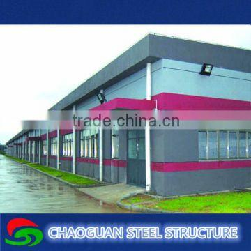 Light structural steel frame workshop building plan