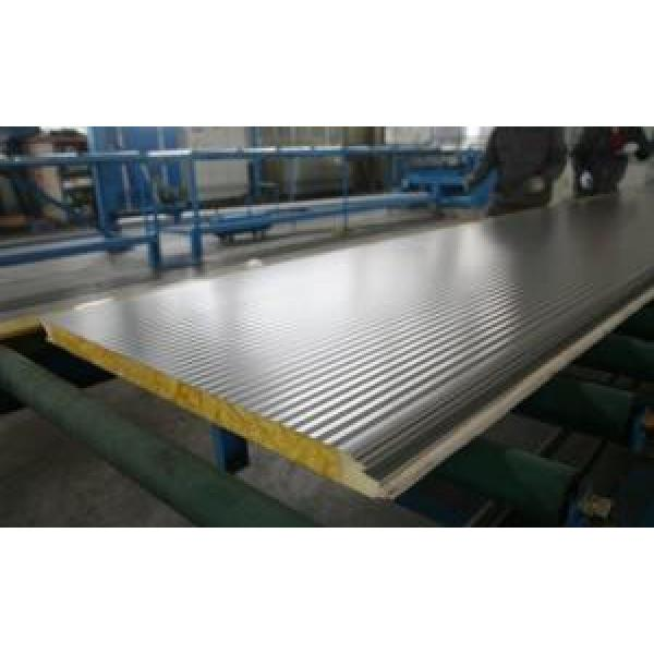Durable Insulated Sandwich Panels , Rockwool Sandwich Panel With Pu Sealing #1 image