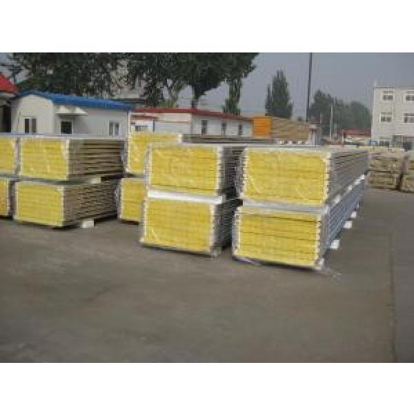 Durable Insulated Sandwich Panels , Rockwool Sandwich Panel With Pu Sealing #3 image