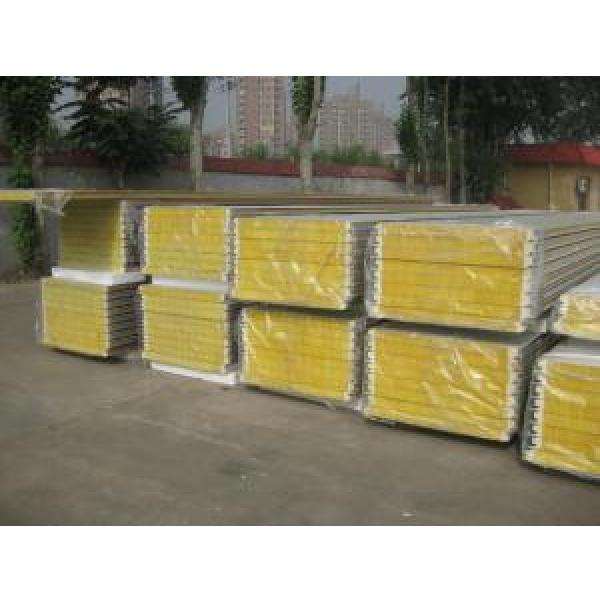 Durable Insulated Sandwich Panels , Rockwool Sandwich Panel With Pu Sealing #4 image
