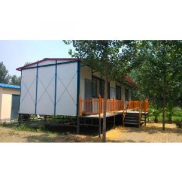 Dormitory / Office Steel Prefab House With 15mm Plywood Floor Board
