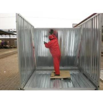 Flat Pack Steel Small Storage House As Prefab Workshop Waterproof