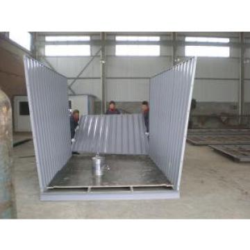 Movable Steel Storage Sheds With Galvanized Corrugated Steel Roof