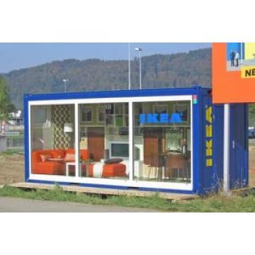 Galvanized Steel Container Kiosk , Anti Rust Prefab Concession Stand