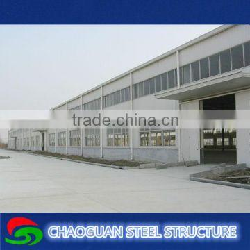 Structural steel frame warehouse construction