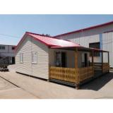 Durable Reusable Prefabricated House Anti-Rust With Color And Veranda Option
