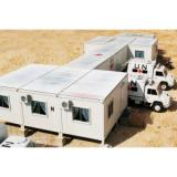 Flat Roof Mobile Modular Homes With Steel Structure For Dormitory