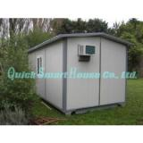 Windproof Portable Modular Homes , Galvanized Small Prefabricated House