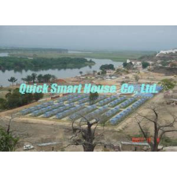 Comfortable Steel Prefab House , Temporary Portable Housing With Sandwich Panel Wall #2 image