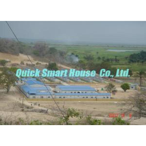 Comfortable Steel Prefab House , Temporary Portable Housing With Sandwich Panel Wall #3 image