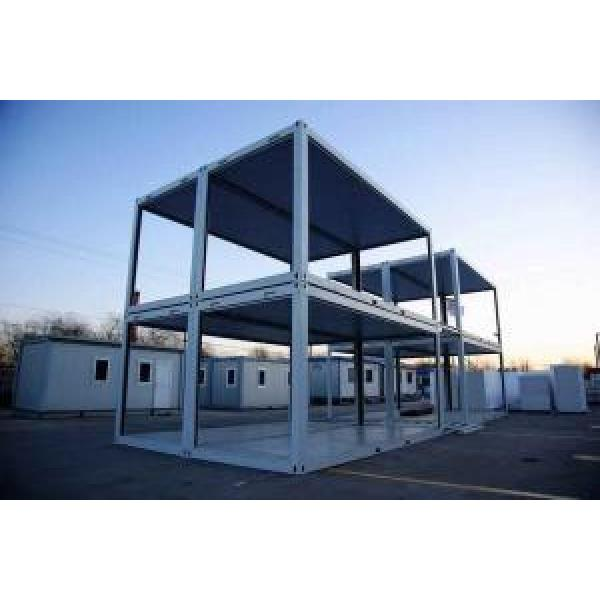 Economical Combined Prefab Container House With EPS Sandwich Panel Wall #1 image