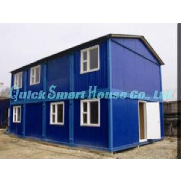 Economical Combined Prefab Container House With EPS Sandwich Panel Wall #2 image