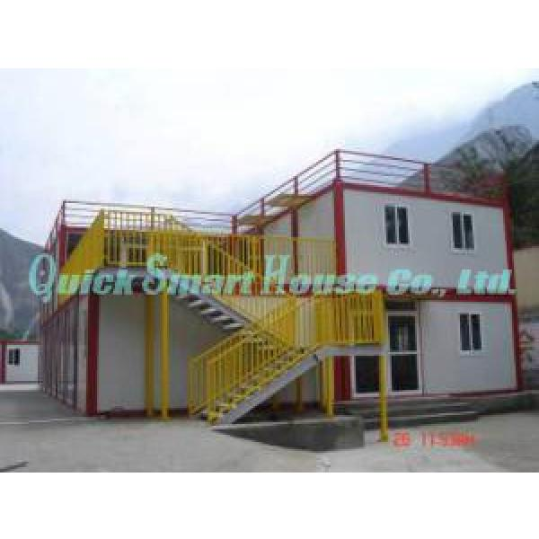 Economical Combined Prefab Container House With EPS Sandwich Panel Wall #3 image