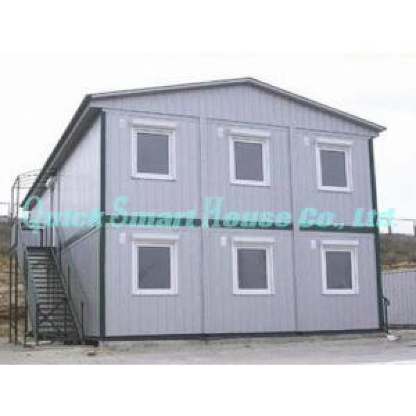 Economical Combined Prefab Container House With EPS Sandwich Panel Wall #4 image