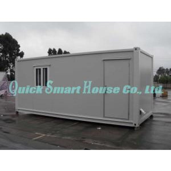 OEM Flat Pack Frame Mobile Modular Homes , White Modular Home #1 image