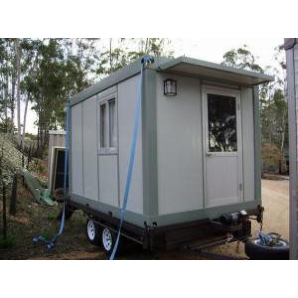 White Mobile Portable Modular Homes , Sloping Roof House CE & SGS #1 image