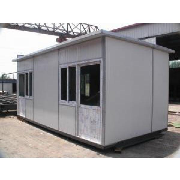 White Mobile Portable Modular Homes , Sloping Roof House CE & SGS #2 image