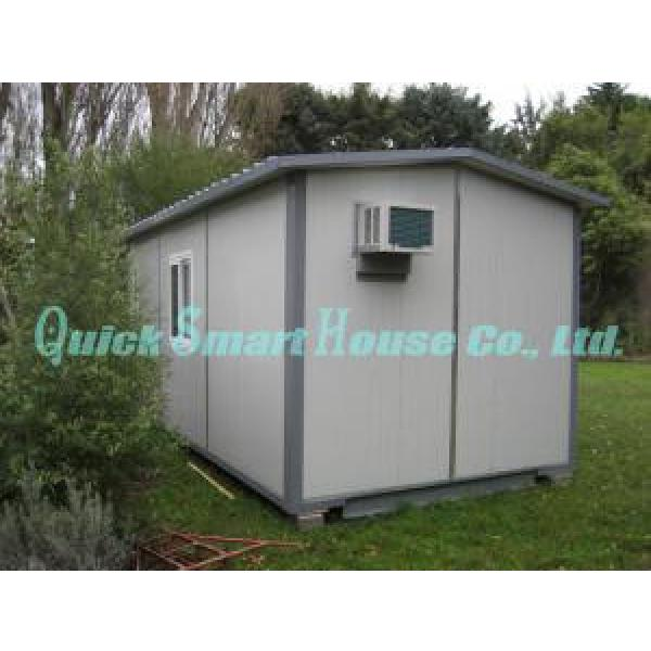 Windproof Portable Modular Homes , Galvanized Small Prefabricated House #1 image