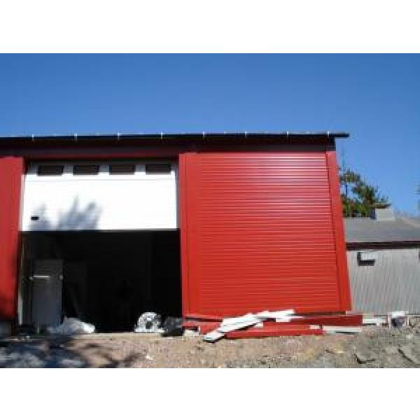 Eco Friendly Prefabricated Steel Buildings , Red Steel Structure Shed #1 image