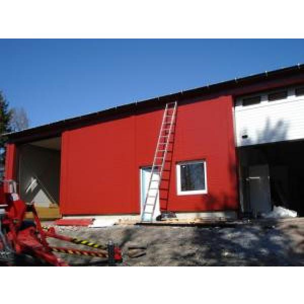 Eco Friendly Prefabricated Steel Buildings , Red Steel Structure Shed #2 image