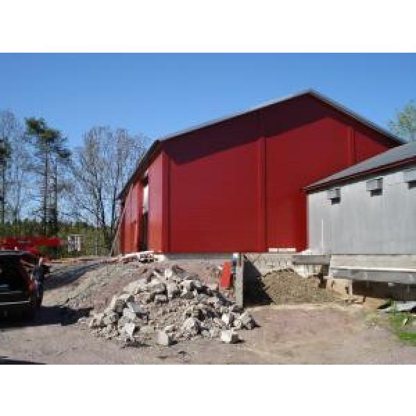 Eco Friendly Prefabricated Steel Buildings , Red Steel Structure Shed #3 image