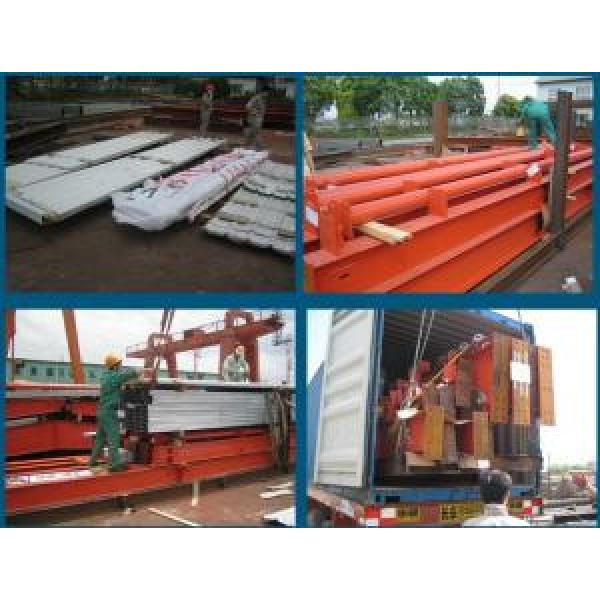Eco Friendly Prefabricated Steel Buildings , Red Steel Structure Shed #4 image