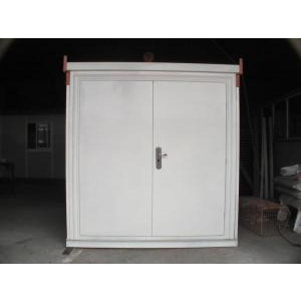Galvanized Corrugated Steel Storage Shed , Folding Steel Warehouse #1 image