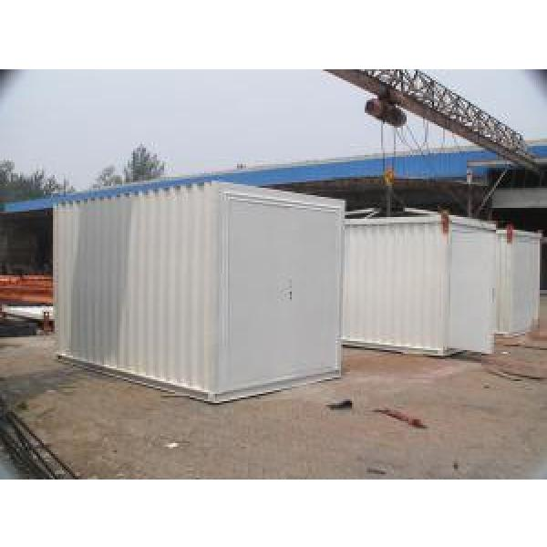 Galvanized Corrugated Steel Storage Shed , Folding Steel Warehouse #3 image